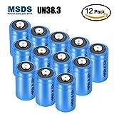 Batterien CR123a 3v, LYPULIGHT 12 Stücke Hohe Kapazität lithium batterie CR123A 3V mit PTC-Schutz Leckbeständige langlebige für Taschenlampe, Kamera, Camcorder, Spielzeug