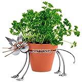 Metall-ART Design Katze Blumentopfhalter