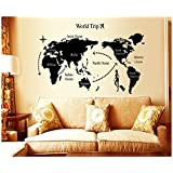 iBaste Mundo bricolaje creativo mapa extraíble pegatinas