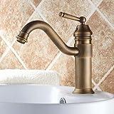 Greenspring Retro Bad Waschbecken Waschschale Einhebel Armatur Mixer Antik Messing