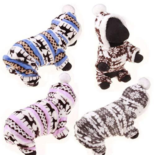 Nachtwäsche Böden (Gamloious US Lager! Haustier-Kleidung Hund Pyjama Nette weiche Baumwoll Puppy Teddy Katze Nachtwäsche Mantel)