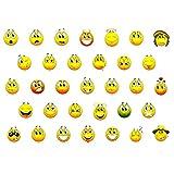 330 Stück Gelbe Smiley Face Stickers verschiedene Emotionen Lächlen - Freude - Belohnung
