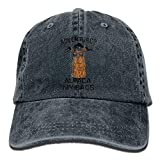 Adventure Alpaca My Bags Plain Washed Dad Solid Cotton Polo Style Baseball Cap Hat Black