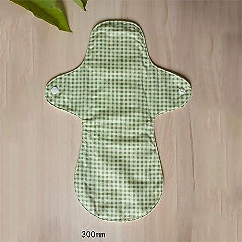 GUO -Fatto a mano in cotone lavabile giorno tovagliolo sanitario e di notte a duplice uso 300 millimetri impedice l'allergia a tenuta stagna può essere riutilizzato