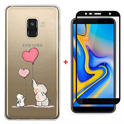 FHXD Compatible con Funda Samsung Galaxy A7 2018 Ultra Thin Transparente TPU...