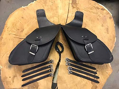 Satteltaschen Sporty für Harley Davidson Sportster ab 2004 1200 883 Iron 48 Iron Roadster XL Seitentaschen Seitenkoffer Forty Eight Leder Taschen Bikertaschen Motorrad Koffer Ledertaschen Orletanos
