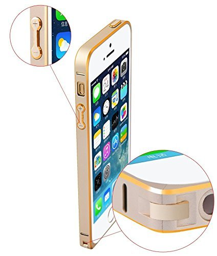 Kapa iAccessorize Ultra Thin Premium Metal Bumper Case Cover For Apple iPhone 5/5S (Gold)
