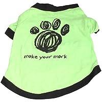 PerGrate - Ropa para perro, diseño de cachorro de gato pequeño, algodón impreso, para disfraz de verano, color verde