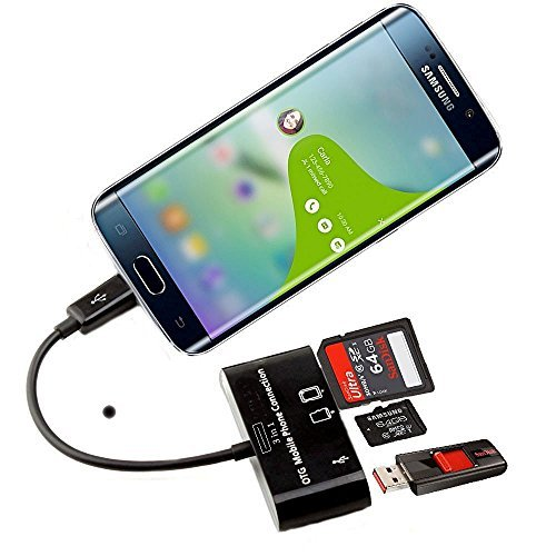 BestBuy-24 OTG Connection-Kit Adapter Micro-USB Card-Reader SD Micro-SD card USB-Stick, android smartphone handy tablet, samsung, lg, asus, huawei, - Sd-card Für Reader Lg G2