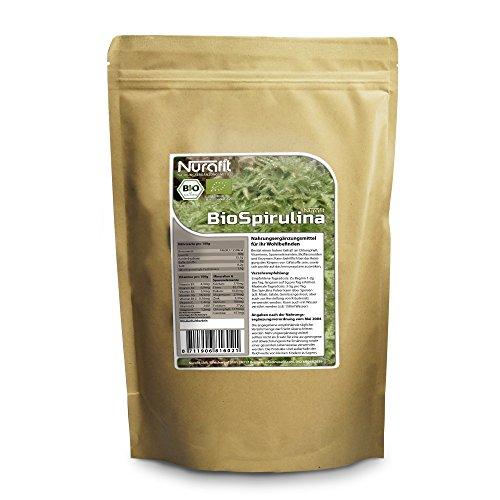 Eisen-unterstützung Mit 60 Tabletten (Nurafit BIO Spirulina Pulver | 500g / 0.5kg | aus kontrolliert biologischem Anbau | einmalige Nährstoffkombination, hoher Proteinanteil - Natürliche Cleanse und Detox Diät | Leckere Green Smoothies)