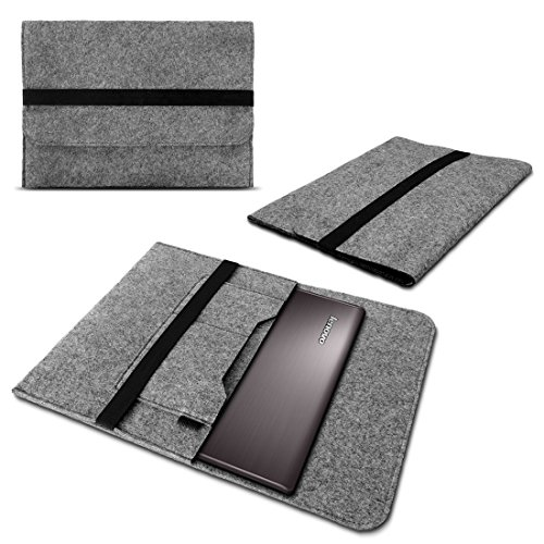 Sleeve Tasche Lenovo ThinkPad X1 Carbon 2017 14' Hülle Filz Case Notebook Cover, Farben:Hell Grau