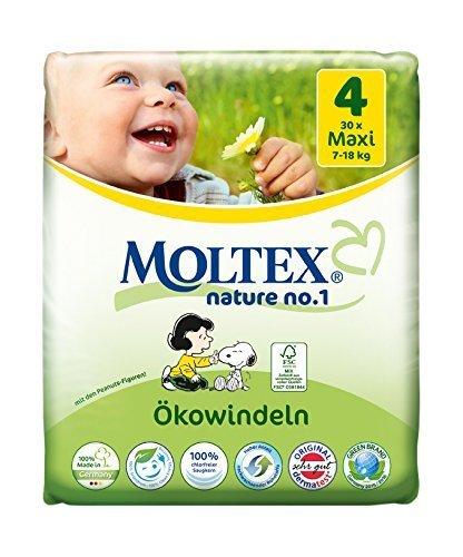 120 pcs MOLTEX Nature No1 funda de almohada de pañales Maxi GR 4 (7-18 kg) 4 x 30 pcs