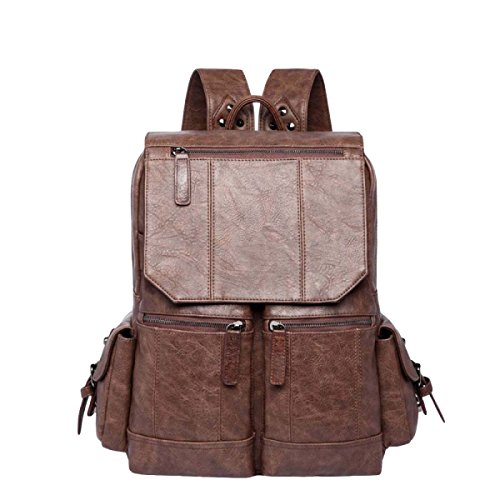 Retro Computer Tasche Männer Schulter Tasche Tasche Rucksack Lässig Einfach Wild Brown