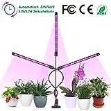 Orthland Pflanzenlicht 36W 72 LED Pflanzenlampe Neueste Version mit Automatische Zeitschaltuhr Grow Light Lampe Wachstumslampe 10 Dimmbare Helligkeiten für Gewächshaus Pflanzen Zimmerpflanzen