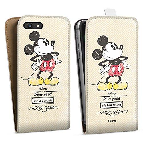 Apple iPhone X Silikon Hülle Case Schutzhülle Disney Mickey Mouse Classic Merchandise Geschenke Downflip Tasche weiß