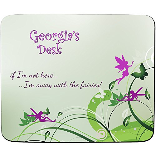Georgien Schreibtisch-Away With the Fairies Design-Persönlicher Namen Mauspad-PREMIUM (5Dick) (Georgien Namen)