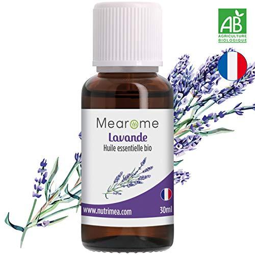 Huile Essentielle de Lavande Vraie Bio Mearome - 30ml - 100% Pure et Naturelle -...