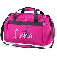 Sporttasche mit Namen | Personalisieren & Bedrucken | Motiv Ballett-Tänzerin | Reisetasche Umhänge-Tasche für Mädchen | inkl. Namensdruck