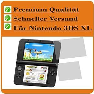 6X Crystal Clear klar Schutzfolie für New Nintendo 3DS XL Konsole (je 3 Folien pro Display) Premium Displayschutzfolie Bildschirmschutzfolie Schutzhülle Displayschutz Displayfolie Folie Panzerfolie