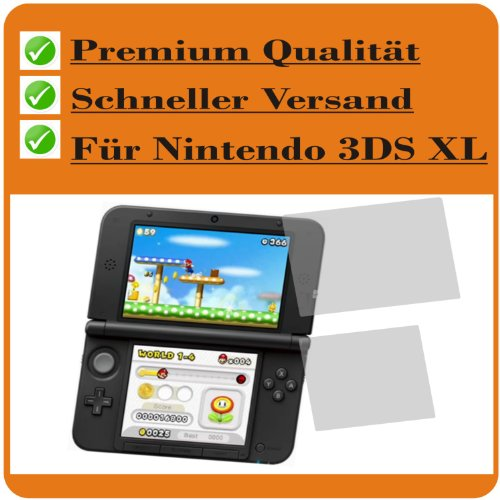 6x Crystal clear klar Schutzfolie für New Nintendo 3DS XL Konsole (je 3 Folien pro Display) Premium Displayschutzfolie Bildschirmschutzfolie Schutzhülle Displayschutz Displayfolie Folie Panzerfolie (Nintendo 3ds Xl Skin Protector)
