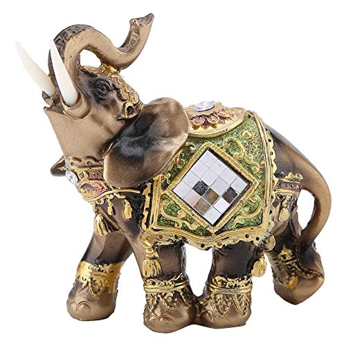 Asian Antiques Antiques china Bronze Handmade Statue Vivid Riches And Honour Elephant