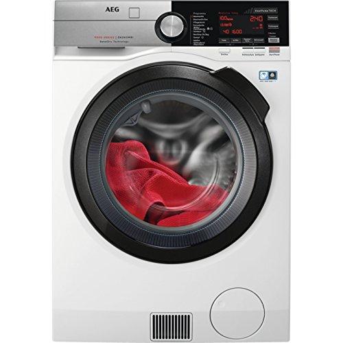 AEG L9WE86605 Waschtrockner / Waschmaschine (10,0 kg) mit Trockner (6,0 kg) / 1600 U/min / SensiDry / Wärmepumpentechnologie mit Materialautomatik (Fein-, Wollwäsche oder Outdoorbekleidung) / ProSteam Knitterschutz / Energieklasse A (814 kWh/Jahr) / weiß