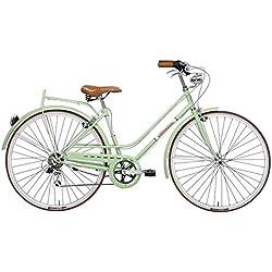 Bicicleta Clasica Adriatica Mujer Retro Vintage Rondine Verde