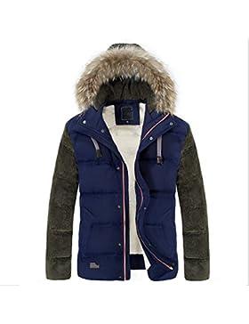 MHGAO Capa de la chaqueta con capucha del invierno de los hombres de Down , blue , m