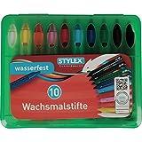 Toppoint 28215A Wachsmalstifte, Wachsmalblöcke, Wachsmaltropfen-Etuis Wachsmalstiftetui wasserfest Box