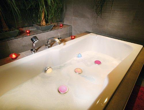 ANSMANN Aqualight LED-Unterwasserleuchte - Beleuchtung für Pool Badewanne Wellness Teich Party - Stimmungslicht wasserfest schwimmfähig (2er Pack) - 5