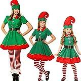 Luoluoluo Natale Costume,Costumi di Natale per Adulti e Bambini Vestito per Elfi di Natale per Bambini (Donna, 170)