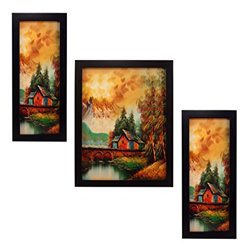 3 Piece Set Of Framed Wall Hanging Art Prints Paintings