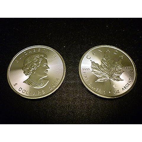 1oz Moneta Argento Silver Canada Canada Canadian Maple Leaf 2013nuovo. Con certificato.
