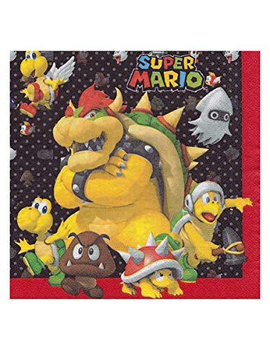 amscan- Super Mario Serviettes en Papier, 9901538