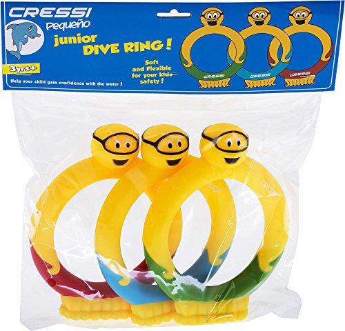 Preisvergleich Produktbild Cressi Wasserspiele Junior Dive Ring 3 Pieces, Multicolor, M, DF200013