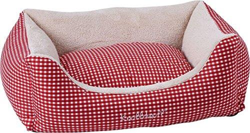 Knuffelwuff 13100 Kuschel Hundebett Lina Karo – Größe XL, 105 x 75 cm, rot - 3
