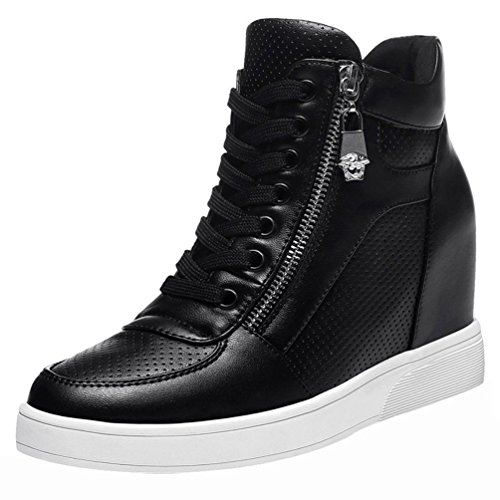 fq-real-women-fashion-pu-lace-up-increasd-within-zipper-wedge-mid-top-walking-sneaker-shoes5-uk-blac