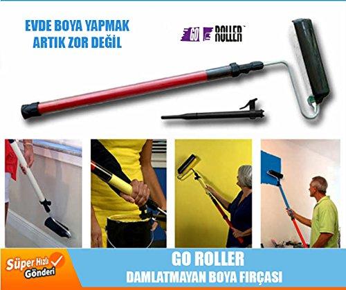 Preisvergleich Produktbild GO Farb-Roller mit Funktionsstiehl als Farbtank - Maler-Farbrolle Malerwalze