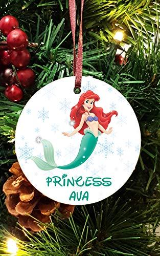 Disney Princess personnalisé en céramique Décoration d'arbre de Noël Décorations à Suspendre la Petite sirène Ariel (6)