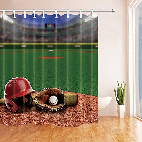 Stadion Decor Baseball Stadium Voll von Fans in die steht mit Baseball Helm Bat Handschuh und Ball auf Infield Schmutz Ton Bild