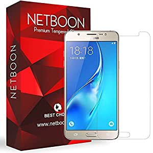 NETBOON Full Cover Screen Guard Tempered Glass for Samsung Galaxy On8, 2016 (Transparent)