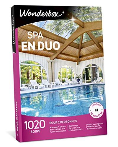 Wonderbox - Coffret cadeau Noël - SPA EN DUO - 1020 soins bien-être, massages aux...