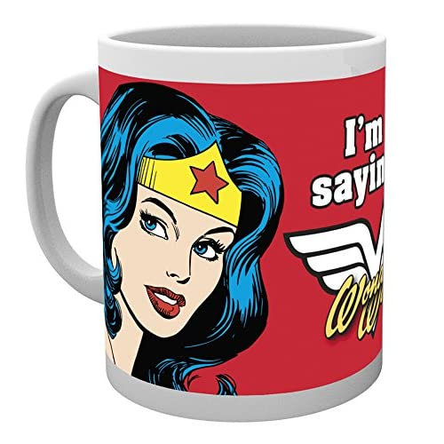 DC Comics - Taza, diseño con Texto Wonder Woman, Not Saying, Multicolor 3