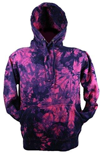 Tie Dye Raspberry / Purple Scrunch Hoodie Hood 701823 Herren Hood 006 XL (Tie Dye Herren-xl)