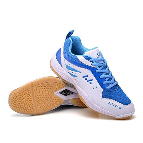 Mr. LQ - Professionale Badminton / Tennis / Ping pong Sneaker white and blue