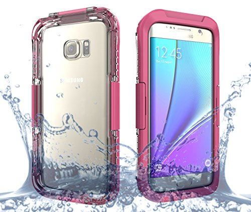 Galaxy S7 Edge Case, Moonmini® Waterproof Shockproof Dirtproof Snowproof Case Cover for Samsung Galaxy S7 Edge (2016) Pink