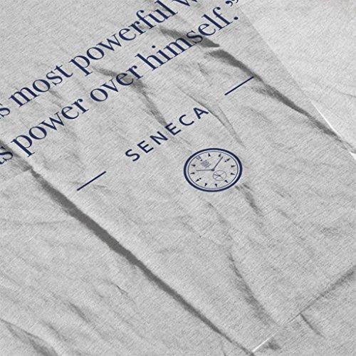 Stoic Time Seneca Power Quote Women's Vest Heather Grey