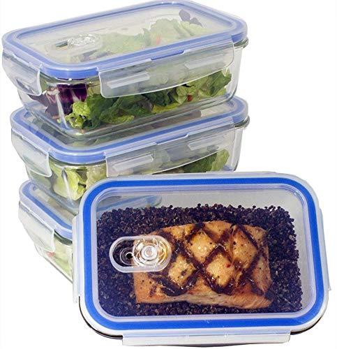 Misc Home Récipient en Verre - Boîtes à Aliments - Couvercles Transparents - sans BPA - pour la Cuisine ou Le Restaurant