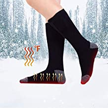 Ridecyle Calcetines calefactables para Hombre y Mujer, Recargables por USB, con Temperatura Ajustable,