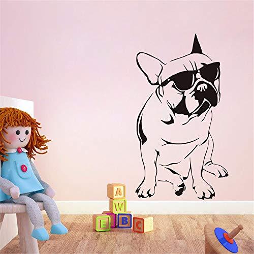 Dtcrzjxh 3Dcartoon Hübscher Hund Mit Sonnenbrille Wandaufkleber Mädchen Jungen Kinderzimmer Wohnzimmer Pvc Dekoration Diy Wandbild Applique